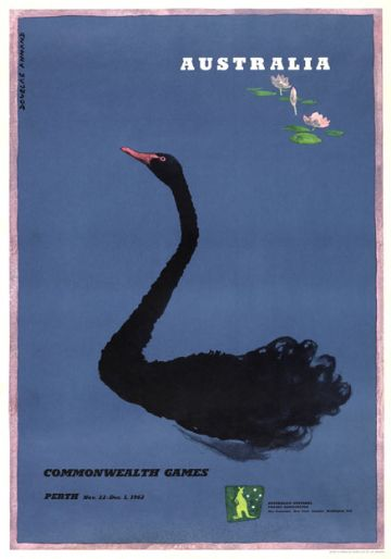 Commonwealth Games 1962, Perth, Australia. Vintage Travel Poster by Douglas Annand